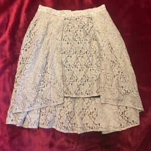 Tan Lacey two length lined skirt.